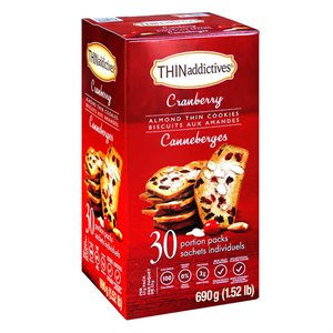 ThinAddictives - Biscuits aux amandes - Canneberges Nonni's Foods LLC