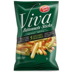 Bâtonnets de croustilles aux légumes Viva Yum Yum